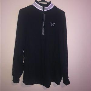 VS Pink Black Quarter Zip